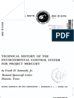 Technical History of the Environmental Control System for Project Mercury