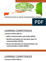 MODULE 1 INTRODUCTION TO MEDIA INFORMATION LITERACY