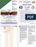 Vestibular Bblico 2011 - 1 Fase - Caderno de Provas