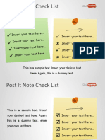 8094 Sticky Notes Checklist