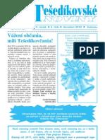 Tešedíkovské noviny - 2010. december