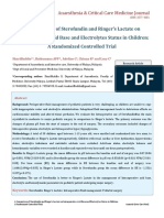 A Comparison of Sterofundin & RL on Intraoperative Acid Base & Electrolytes Status in Children (ACCM Journal)