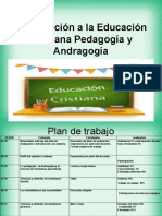 Introducción a la Educación Cristiana Pedagogía y Andragogía