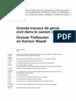 Grands travaux de génie civil dans le canton de Vaud