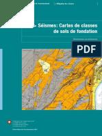 seismes cartes de classes de sols de fondation