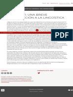 Capítulo 1_ Una breve introducción a la lingüística – La lingüística hispánica_ Una introducción
