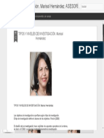 TIPOS Y NIVELES DE INVESTIGACIÓN. Marisol Hernández _ Metodología de investigación. Marisol Hernández. ASESORÍA Maracaibo, Venezuela 0414 6219859