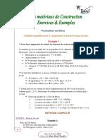 Exercices et Exemples des MDC - Examen 2