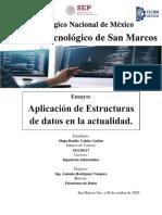 ensayo, estructuras de datos