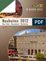 Faller 2012 Neuheiten