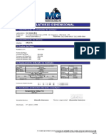 PEÇA P13466- Relatório de Dimensional