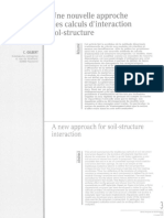 RFG n°072 (1995) - Nouvelle approche des calculs d'interaction sol-structure - C.Gilbert