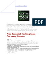 Free Hacking Tools Essential for Every Hacker