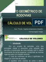 Projeto Geometrico de Rodovias - Calculo de Volumes
