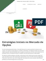Estratégias Iniciais no Mercado de Opções - Clube de Finanças