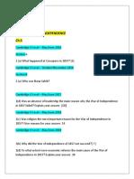 History Igcse Pakistan studies Chapter 3 Questions