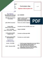 model cv en français