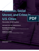Pandemic, Social Unrest, and Crime in U.S. Cities