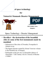 Use Of Space Technology For Disaster Management