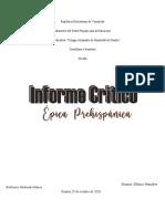 Informe Critico de Castellano Hannalier Alfonzo