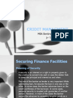Securing Finance Facilities
