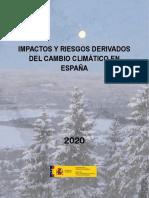 Impactos y riesgos derivados del cambio climático en España