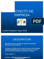PROYECTO DE EMPRESA Ismael Rodriguez lopez
