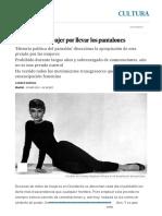 La lucha de la mujer por llevar los pantalones _ Cultura _ EL PAÍS