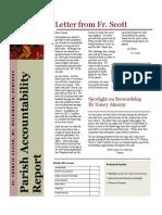 Parish Accountability Report Fall 2010