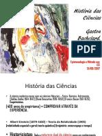 SHNEIDER ELEN - Aula História Das Ciências - Bachelard - 31-03