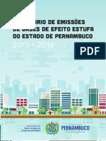 Inventário Estadual de Emissões de Gases de Efeito Estufa - 2015-2018 - Pernambuco