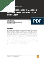 CONCEPÇÕES SOBRE A MORTE E O MORRER ENTRE ESTUDANTES DE PSICOLOGIA