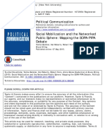 Benkler - Social Mobilization and the Networked Public Sphere - Discourse analysis COICA ACTA PIPA