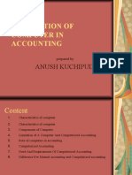Application of Computer in Accounting
