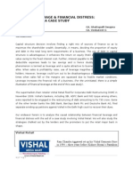 Financial distress - Vishal Retail a case study