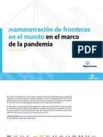 administración de fronteras en el mundo en el marco de la pandemia