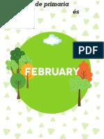 Inglés cuadernillo de trabajo febrero