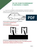 PRINCIPE DE FONCTIONNEMENT DU MOTEUR 4 TEMPS