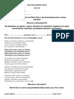 BOLETIM DOMINGO NOITE, 05.01.2020