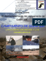 Informe Sobre el desmantelamiento del Campamento de Gdeim Izik - Codapso 2011