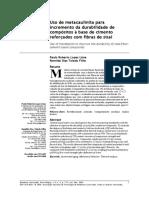 Uso de metacaulinita para incremento da durabilidade de compósitos à base de cimento reforçados com fibras de sisal