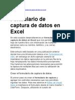 formulario para capturar datos