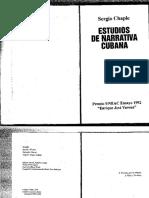 Chaple, Sergio - Estudios de Narrativa Cubana