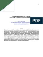 Sanchez - Desviacion entre precios y valores. El caso de la industria española (1995)