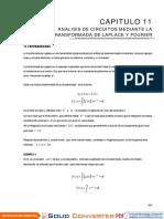 CAP 11 ANALISIS DE CIRCUITOS MEDIANTE LA TRASFORMADA DE LAPLACE Y FOURIER