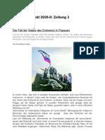 Der Fall der Statue des Eroberers in Popayán