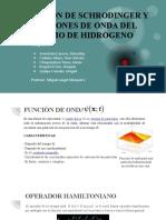FUNCION DE ONDA PARA EL ATOMO DE HIDROGENO