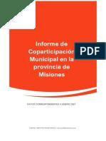 Coparticipacion Municipal Misiones Enero