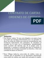Contrato de Cartas Ordenes de Credito