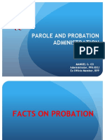 Facts on Probation and Parole